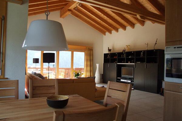 Interieur woonkamer vakantiehuis LuxLax