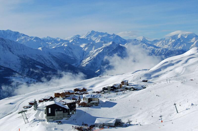 Skiegebied Aletsch Arena vanaf Fiescheralp