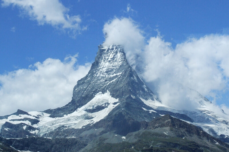 Matterhorn vanaf Aletsch Arena