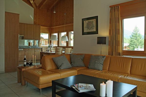 Woonkamer vakantiehuis LuxLax